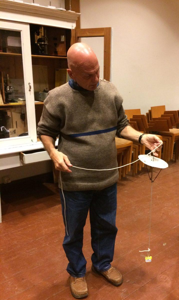 Professor Emeritus Ilppo Vuorinen and the archive of research tools. Photos Taru Elfving.