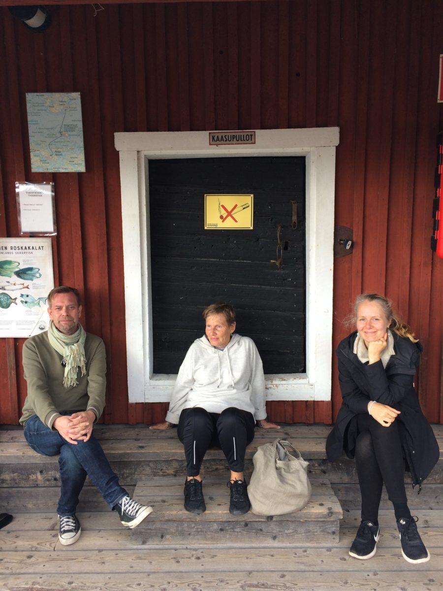 Kalle Hamm, Irmeli Kokko and Kati Roover.